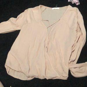 Xs long sleeved low cut criss cross shirt